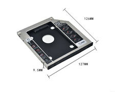SATA 2nd SSD Caddy disque dur HDD Pour Universel 9.5mm CD/DVD-ROM Optique Bay