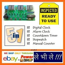 E36M Ready to Use 5 Functions 6 Digit LED Digital Alarm Clock Pre Assembeled Kit