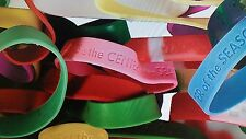 12 - Religious Christian Sayings Rubber Bracelets - Silicone Church Message
