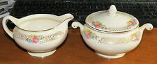 Homer Laughlin Eggshell Nautilus Cream & Sugar E39N5 MINT!