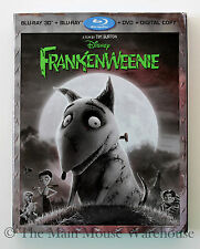 Disney Tim Burton Frankenweenie Stop Motion Movie Blu-ray 2D 3D DVD Digital Copy