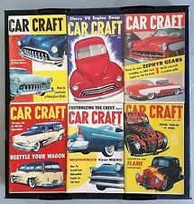 Vintage Car Craft Magazine  Lot of 6 Complete  Issues From 1956 - Hot rods