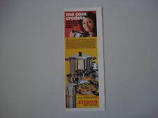 advertising Pubblicità 1971 PENTOLE AETERNUM