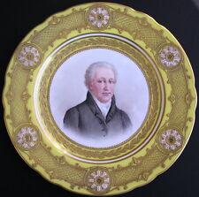 Marked Sevres Paris Porcelain Portrait Plate CHATEAU DES TUILERIES 'GOETHE'