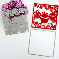 Cup Cakes Cutting Dies Scrapbook DIY Album Stencil Gift Card Diary Decor Craft