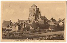 CPA 29 - LOCRONAN (Finistère) - 1901. vue de la route de Quimper
