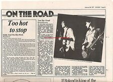 VAN DER GRAAF GENERATOR Roundhouse 1977 concert  review UK ARTICLE / clipping