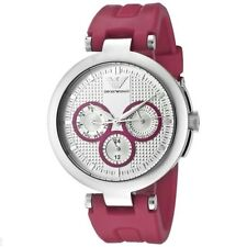 Authentic Emporio Armani AR-0737, Pink Strap Slim Watch for Women