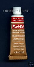 Antique Gold 76303G ~ Amaco Rub 'N Buff Uncarded Wax Metallic Finish Crafts etc