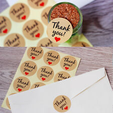 """60Pcs Paper Sticker """"Thank You"""" Letter Print Round Craft Packing Stickers Gifts"""