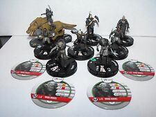 HEROCLIX LORD OF THE RINGS ORC ARMY WITH RARE SHARKU + WARG RIDERS TOKENS