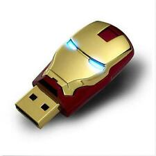 Iron Man 32GB USB 2.0 Flash Memory Stick Pen Drive Storage Thumb Disk Real USB
