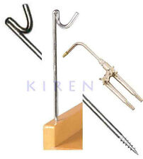 "JEWELERS STEEL TORCH HOOK FOR HOKE TORCHES Y STAND BENCH TOP SCREW TYPE 10"" TALL"