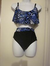 WOMENS SWIM SEXY JUNGLE HEAT FLY AWAY TWIST FRONT BIKINI SIZE 10 NEW