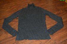 H7- FDJ French Dressing Gray Ribbed Long Sleeve Turtleneck Size S