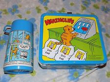 VTG 1982 Metal HEATHCLIFF THE CAT Lunchbox w/ Plastic Thermos 80s