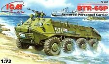 BTR 60 P - COLD WAR ERA APC (SOVIET ARMY AND MARINES MKGS) 1/72 ICM RARE!
