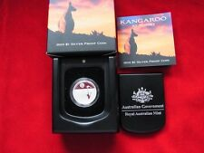 AUSTRALIA.   2010  $1 Kangaroo at Sunset - 1/5oz  Silver....Proof..Cased
