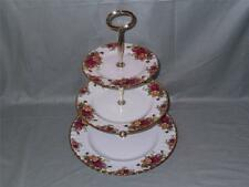 Royal Albert Old Country Roses Bone China 3-Tier Hostess Cake Stand VGC