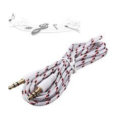 3.5mmStecker auf Stecker AUX AuxiliaryGeflochtene Kabel Stereo Audio-Adapter HOT