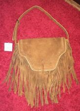 URBAN OUTFITTERS Womens Brown Fringe Satchel Boho Bag Purse NEW