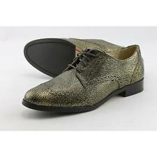 Cole Haan Jagger Wingtip Oxford Women US 6.5 Gold Oxford Blemish  19468