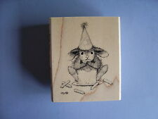 HOUSE MOUSE RUBBER STAMPS HAPPY HOPPPERS CAKE NIBBLER STAMP NEW