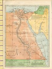 c1880 MAP ~ ANCIENT EGYPT THE LAND OF MIZRAIM ~ LIBYAN DESERT NILE THEBES