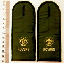 2 x ROVER SCOUTS EPAULETTES - extinct old Scout uniform insignia MINT