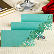 12pcs Color Table Place Cards  Laser Cut Name Number Wedding Invitations Cards