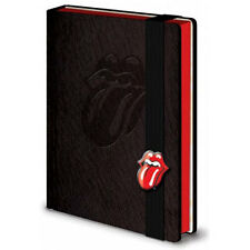 Rolling Stones - Tongue Embossed Logo A5 Size Hardback Notebook - New & Official
