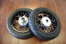 "TIRES FOR CRF50 W/MOTARD  12MM 12"" DRUM BRAKE FRONT&REAR WHEELS SET  V WMS02"