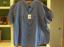Van Heusen Traveler 4XL/4TG/4XG Button Down Shirt Marine Blue Quick Dry Wicking
