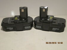 Ryobi One+(2) P102 18v Compact Lith-Ion Batteries Li-Ion FREE SHIP NEW BULK PAK!