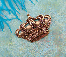 ANTIQUE COPPER (2 Pieces) CROWN Stampings ~ Finding (FA-6085) `