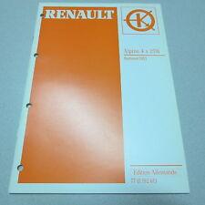 Werkstatthandbuch Renault Autoradio Alpine 4 x 25 W Radiosat HIFI Stand 1997