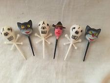 Vintage Halloween hard plastic toothpicks cupcake picks pics HONG KONG