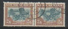 South Africa - 1949, 2s6d Green & Brown - Horizontal Pair - G/U - SG 121