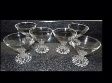 1950's 8 Vintage Anchor Hocking Boopie Footed Sherbet Champagne Glasses Goblets