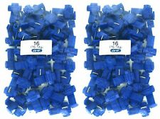 100 PACK 16-14 GAUGE BLUE QUICK SPLICE WIRE CONNECTOR TERMINAL - 100% COPPER