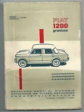 1960 FIAT 1200 GRANLUCE tipo 103G parti di ricambio carrozzeria it fr de 4° ediz