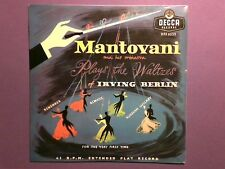 """Mantovani - Plays The Waltzes Of Irving Berlin (7"""" EP) picture sleeve DFE 6353"""