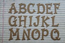 "1 1/2"" tall Serif Uppercase Bare chipboard Alphabet diecuts 26 letters"