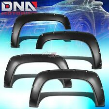 FOR 88-98 CHEVY/GMC C/K-SERIES TRUCK FENDER WHEEL FLARES RIVET BLACK ABS PLASTIC