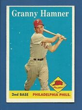 1958 Topps # 268 Granny Hamner - Philadelphia Phils - EX+ - additional ship free