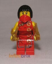 Lego Custom Nya Ninja Minifigure with Red Bandana for Ninjago BRAND NEW cus340