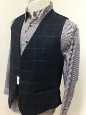Mens tweed waistcoat (LARGE) navy RRP £59.99 country shooting hunting horse