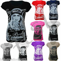 BRAND NEW LADIES T SHIRTS WOMEN PARTY TOPS PRINTED FASHION TIGER  SIZE-S,M,L