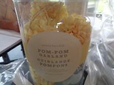 "2 Pottery Barn Pom Pom Yellow garlands each 60"" long  New"