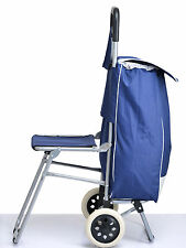 Kawachi Best Quality Shopping Trolley Bag With Folding Chair and 2 Wheels K105